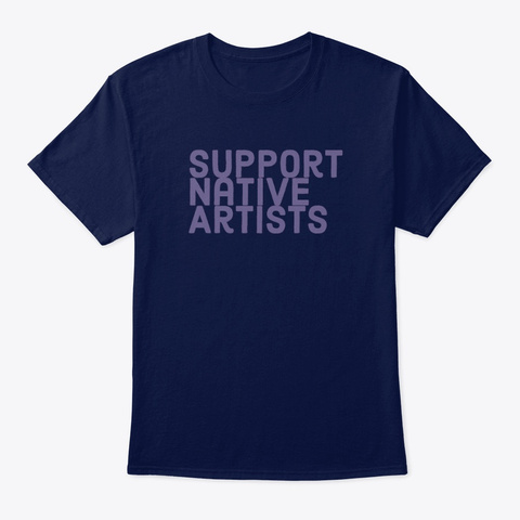 Support Native Arts Navy T-Shirt Front