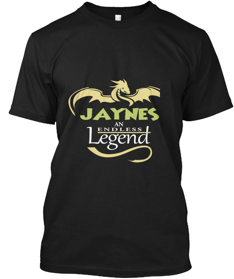Jaynes An Endless Legend Black T-Shirt Front