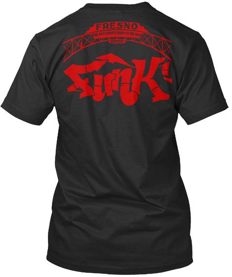 Fresno University Black T-Shirt Back