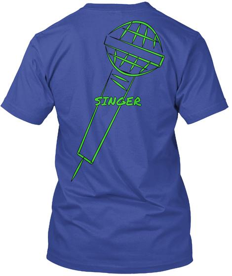 Singer Deep Royal T-Shirt Back