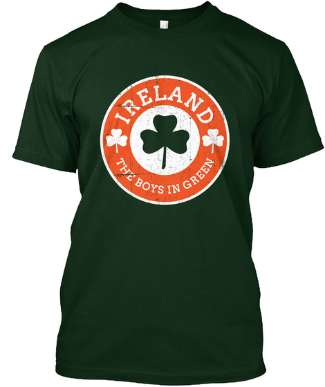 Ireland The Boys In Green Forest Green T-Shirt Front