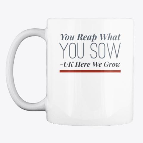 Gardening Slogan Mug, Cup, China,Drink White T-Shirt Front