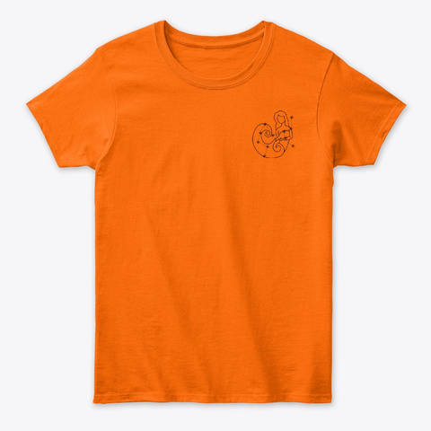 Aquarius: The Water Bearer Orange Women's T-Shirt Front