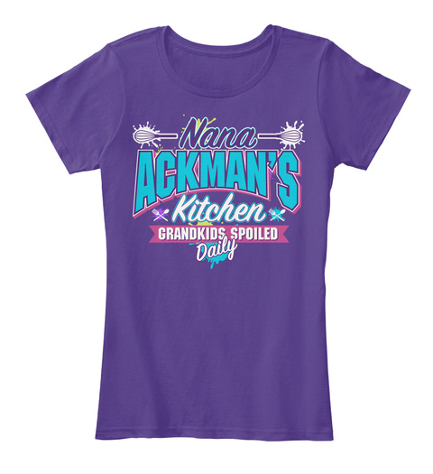 Nana Ackman's Kitchen Purple T-Shirt Front