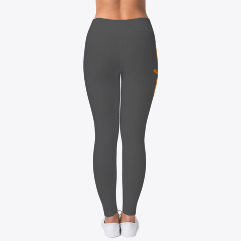 Wendy Citi (Orange Font) Leggings Charcoal T-Shirt Back
