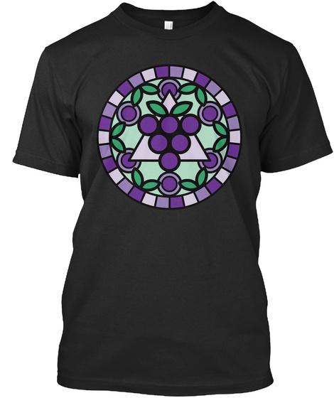 Sacred Grapeometry  Black T-Shirt Front
