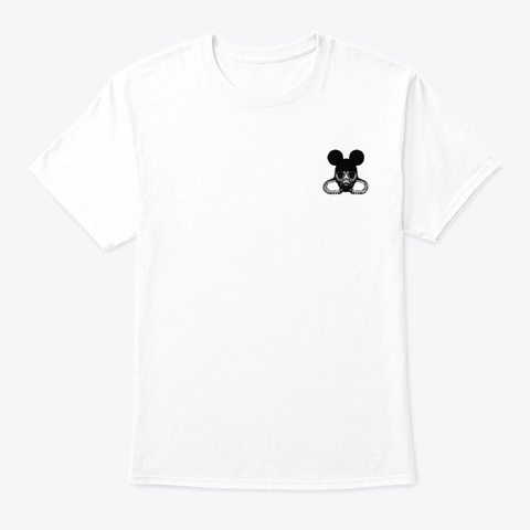 Mouse Mask White T-Shirt Front