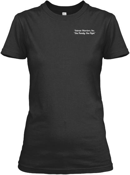 "Veteran Warriors, Inc. ""One Family, One Fight"" Black Women's T-Shirt Front"