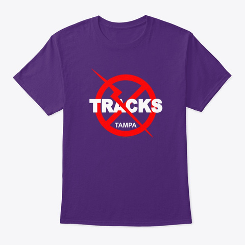 Tracks Tampa Purple T-Shirt Front