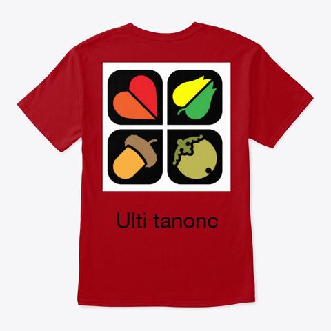 Ulti Tanonc Deep Red T-Shirt Back