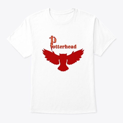 Potterhead Red Owl White T-Shirt Front