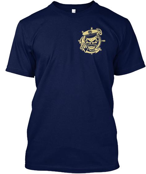 Sailors Never Die, (Davy Jones Locker) Navy T-Shirt Front