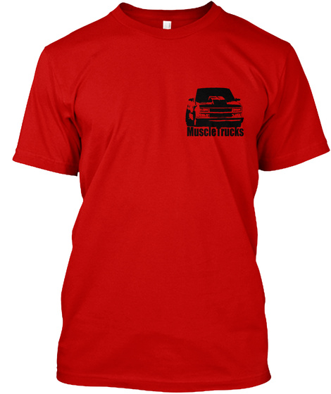 Muscle Trucks Logo Front & Back Classic Red T-Shirt Front