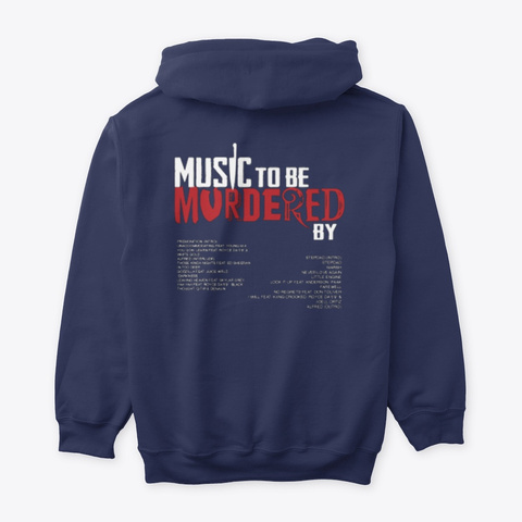 Music To Be Murdered By Shirts Navy T-Shirt Back