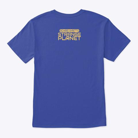 Crop Circles Deep Royal T-Shirt Back