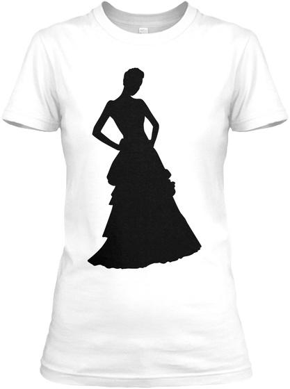 Classy Silhouette White Women's T-Shirt Front