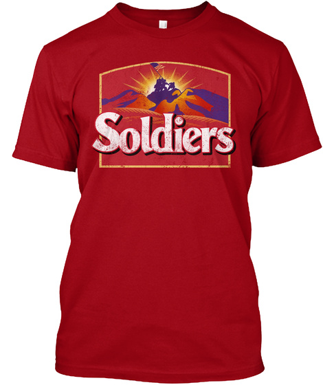 Soldiers Deep Red T-Shirt Front