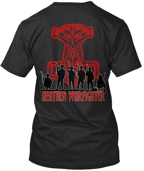 Heathen Warfighter Black T-Shirt Back
