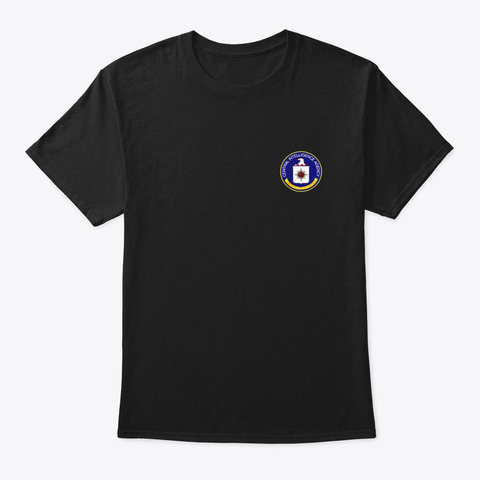 Central Intelligence Agency Cia Military Black T-Shirt Front