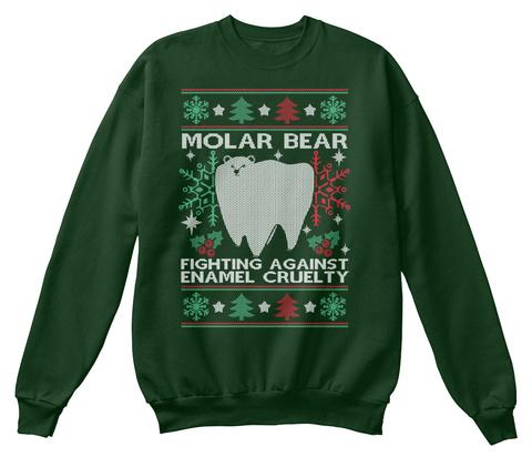Christmas Sweater: Dentist  Deep Forest  T-Shirt Front