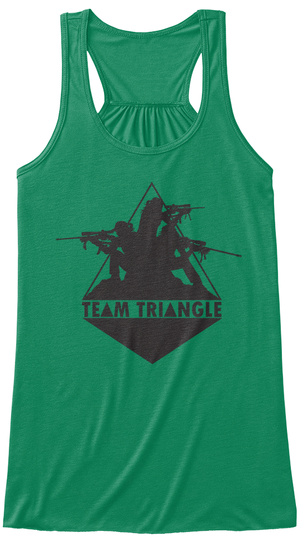 Team Triangle  Kelly T-Shirt Front
