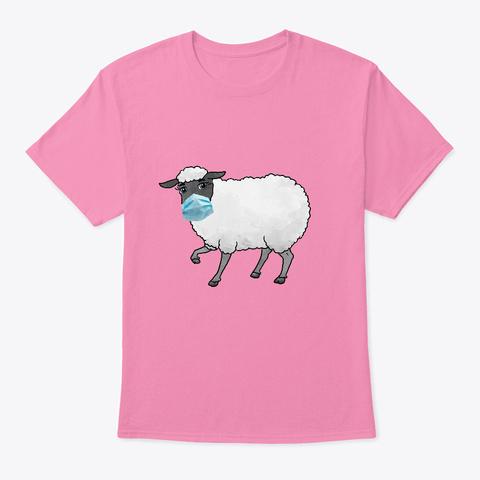 Sheep Mask T Pink T-Shirt Front