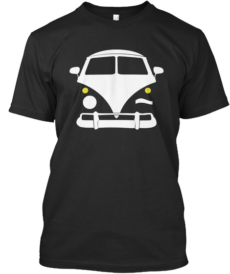 Busnertees  Black T-Shirt Front