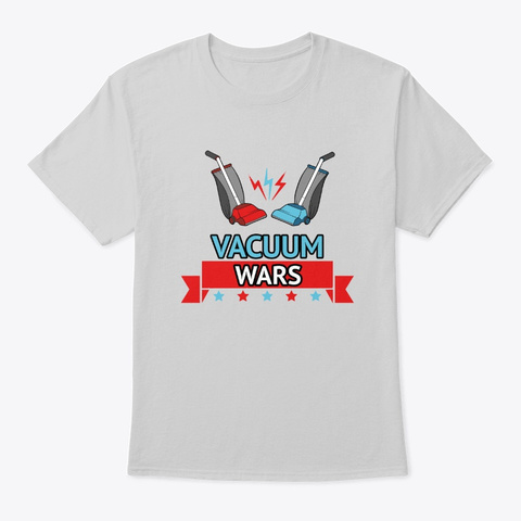 Vacuum Wars Logo  Light Steel T-Shirt Front