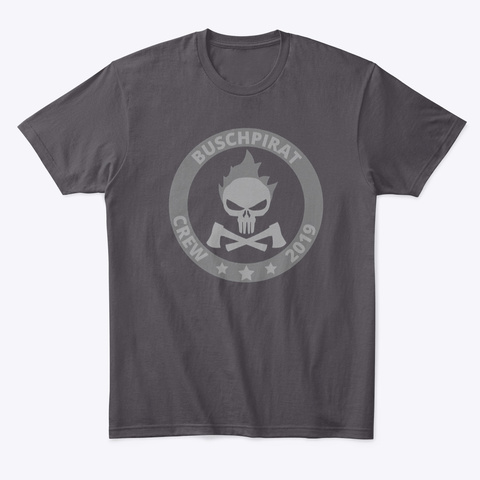 """Buschpirat """"Crew 2019.2"""" / T Shirt Heathered Charcoal  T-Shirt Front"""