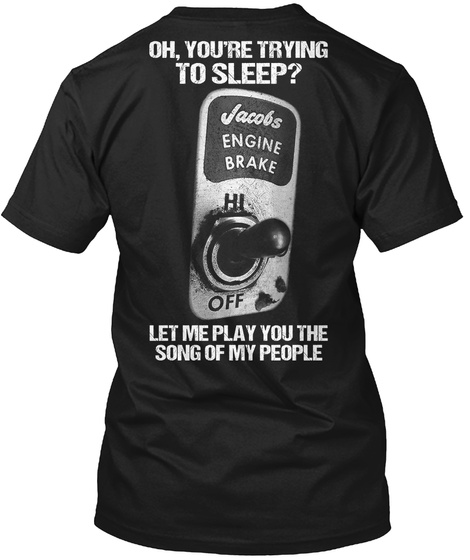 Oh You're Trying To Sleep? Let Me Play You The Song Of My People Black T-Shirt Back
