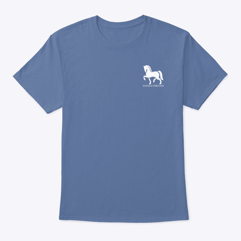 Morgan   The Show Must Go On! Denim Blue T-Shirt Front