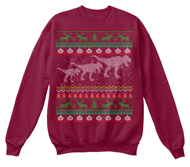 T Rex Ugly Christmas Sweater.T Rex Ugly Christmas Sweater