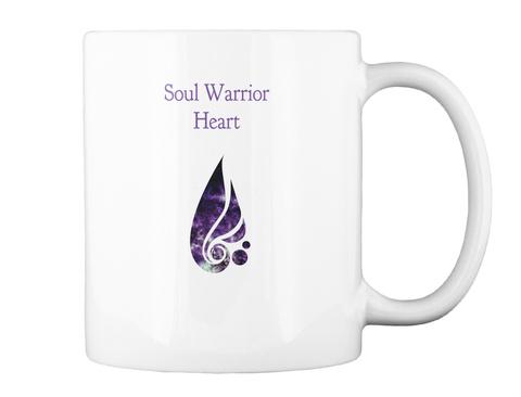 Soul Warrior Heart White T-Shirt Back