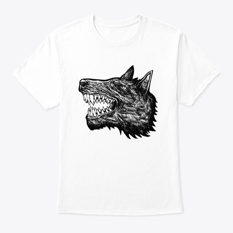 Wolf Spirit White T-Shirt Front
