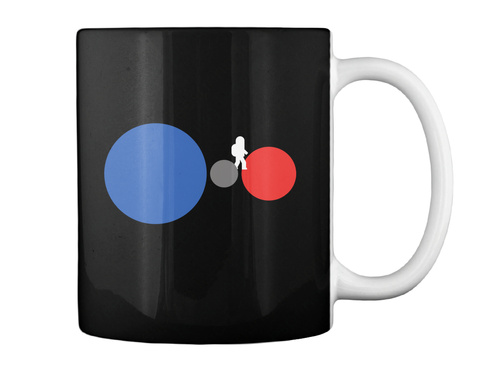 One Small Step Mug [Usa] #Sfsf Black Mug Back