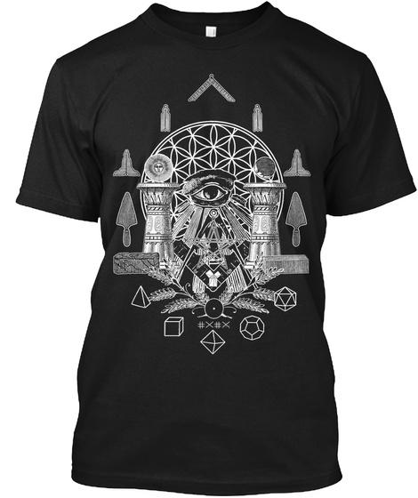 Sacred Geometry Ii Black T-Shirt Front