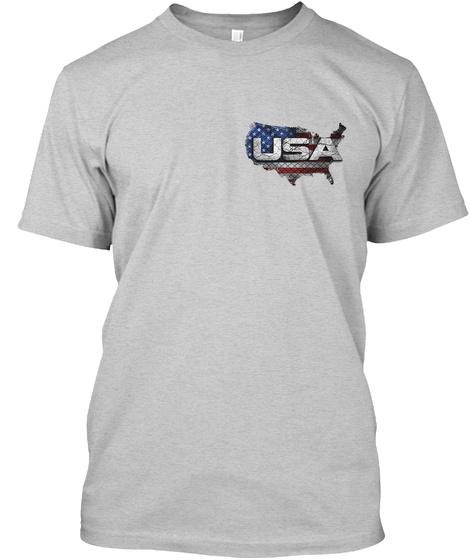 Usa Light Steel T-Shirt Front