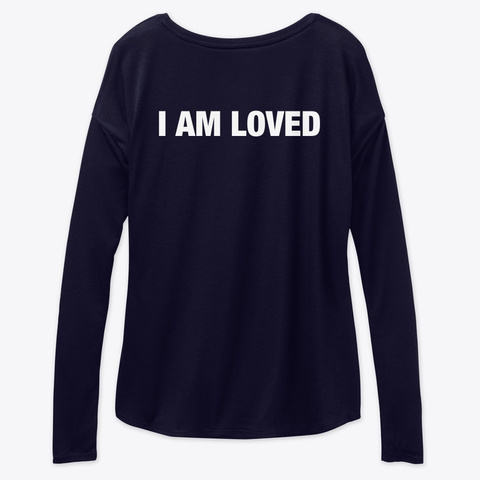 #52 Devotionals I'm Loved By God Midnight T-Shirt Back