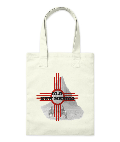 Official Old New Mexico Tote Bag Natural T-Shirt Front