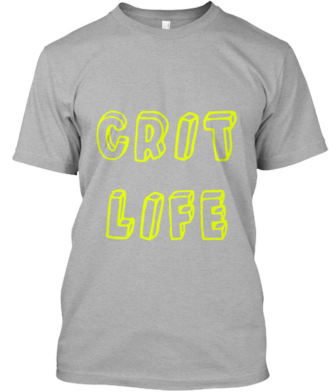 Grit Life Athletic Heather T-Shirt Front