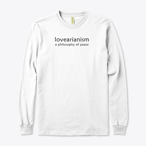 Lovearianism (White) White T-Shirt Front
