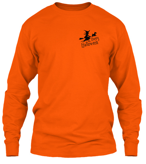 Happy Halloween Safety Orange T-Shirt Front