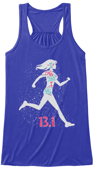 I Can And I Will B 1 True Royal Women's Tank Top Front