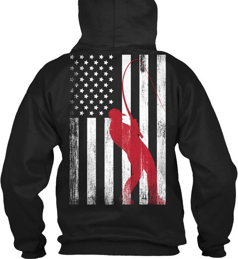 American Fisherman   Limited Release Black T-Shirt Back