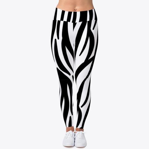 Luxury Zebra Leggings  Standard T-Shirt Front