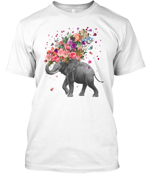 Elephant Splash Shirts White T-Shirt Front