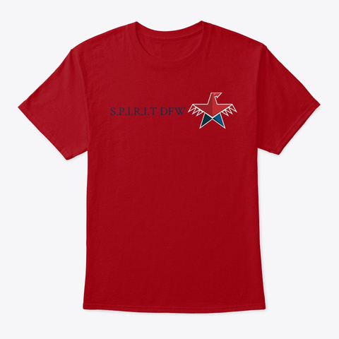 S.P.I.R.I.T Dfw Deep Red T-Shirt Front