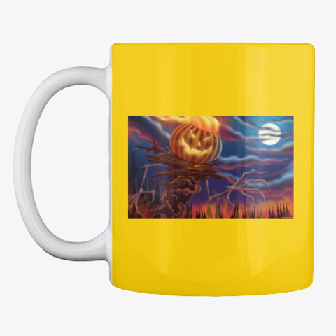 Halloween Mugs Lemon Yellow T-Shirt Front