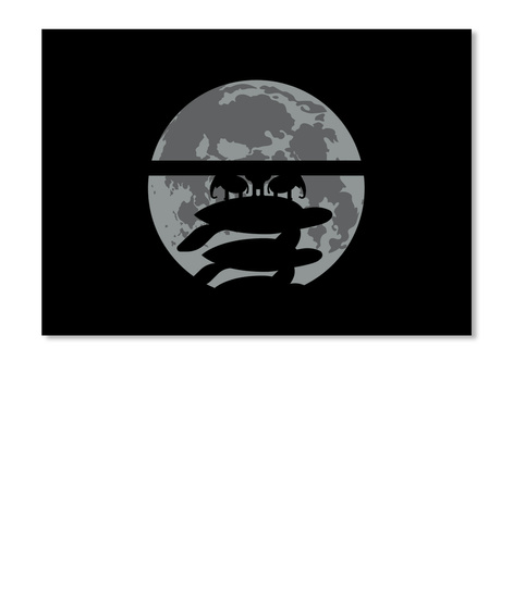 Flat Earth Eclipse 3 Sticker [Usa] #Sfsf Black Sticker Front