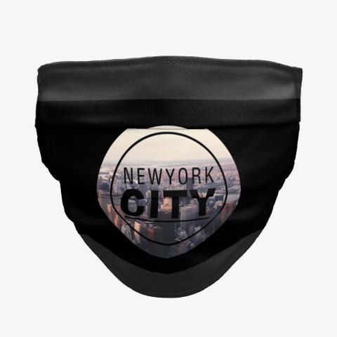 Newyork City Face Mask Black T-Shirt Front